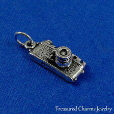 925 Sterling Silver Digital Camera Charm - Photographer Pendant NEW