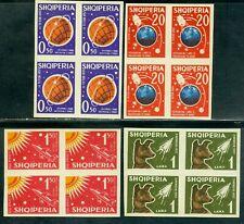 1962 Space Dog Laika,Sputnik 2,Luna 3,Moon Photos,Albania,Mi.868,CV$325,MNH/4