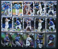 2019 Bowman Kansas City Royals Master Team Set 15 Baseball Cards