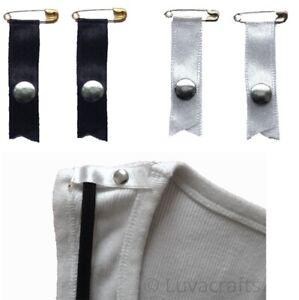 Nortexx Bra Shoulder Strap Retainer Cami-catch Safety Pin White or Black 1 Pair