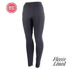 Womens Grey Ultra-Soft HIgh Waist Fleece Lined Premium Winter Leggings