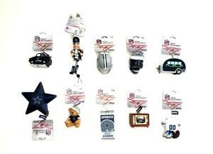 Dallas Cowboys NFL Team Christmas Tree Ornaments Blue/Gray/White Lot of 10
