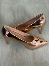 🆕💖Simply Be High Heel Shoes Rose Gold Size 6 U.K. BRAND NEW WITH BOX
