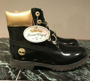 Timberland Women's Limited edition Patent Leather Boots Black Size 7.5 A1U6H