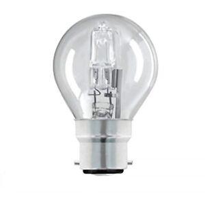2/4/6/10 PACK 18W HALOGEN BC BAYONET G45 MINI GLOBE GOLFBALL  CLEAR LIGHT