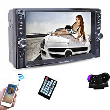 """2DIN Car Radio 6.6"""" HD Player MP5 Bluetooth Touch Display USB Charger Mirror Lin"""