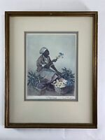 "Elizabeth O'Neill Verner ""Mary Washington"" Print Signed Framed Flower Charleston"