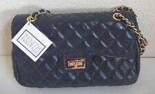 Zenith Lindsay Shoulder Bag Navy Blue Quilted Leather NWT