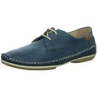 Pikolinos Damen Schuhe Halbschuh Schnürschuh Schnürer W1R-4682 ocean blau Leder