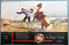 Original 1948 Chrysler Ad John Clymer Art Series WORK HORSE Smaller Format 17x11