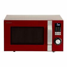 18100833 Sharp Mikrowelle R344 RD 900w Rd| Retro D