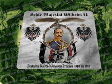 WWI German Patriotic Mouse Pad Kaiser Wilhelm II German Emperor King of Prussia