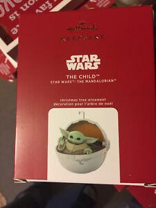 Child Baby Yoda Mandalorian Disney+ Keepsake 2020 Ornament Hallmark Star Wars NR