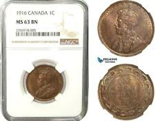 AB246, Canada, George V, 1 Cent 1916, NGC MS63BN