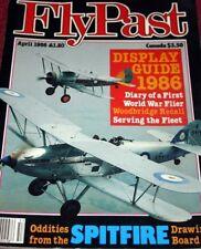 Flypast Magazine 1986 April Woodbridge,Reno,FRADU.Supermarine Spitfire