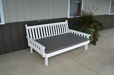 75 inch Pine Indoor or Outdoor Unfinished Traditional English Daybed Amish Made