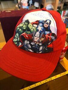 Cap Hat Marvel Avenger Snap Back I am an Avenger  Boy Red Official Ages 2-5yrs