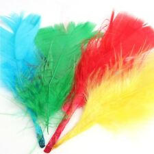 2x Coloured Feathers Large & Small Fluffy Childrens Kids Arts and Craft