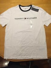 Tommy Hilfiger Men's Embroidered Logo Short Sleeve T-Shirt White So L NEW $39.50