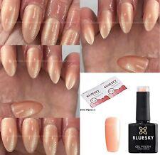 Bluesky 80517 Iced Coral Peach Pearl Shimmer LED UV Soak Off Nail Gel Polish