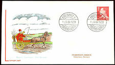 Denmark 1965, 50ore King Frederik, Flouoresent Lumogen Paper FDC #C22011