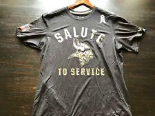 Minnesota Vikings Nike Sidelines Tee Shirt Salute to Service Black XL USED