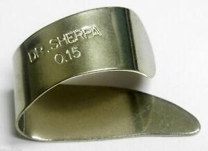 "Dr Sherpa Thumb Pick 0.15"" Metal for Steel String Banjo Guitar Etc"