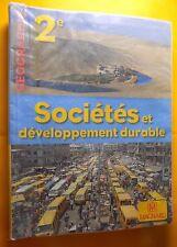 Geographie 2e Societes et developpement durable Jacqueline Jalta Jean-Francois J