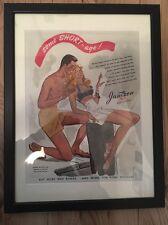 Original Vintage 1940s Retro Framed Advert (43 x 33cms) Jantzen Sun Clothes USA