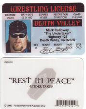 the UNDERTAKER wrestling novelty collectors card Drivers License wcw wwf wwe