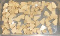 LEGO - SLOPE - 45% 2 x 1, TAN x 60 (3040) ZY163