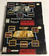 Arcade's Greatest Hits + Atari Collection Super Nintendo SNES CIB Complete Lot