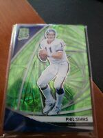 2019 Spectra Phil Simms Neon Green Parallel 22/35 NY Giants
