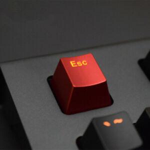 Mechanical Keyboard Metal Translucent Keycap Single Red Paint ESC Keycap
