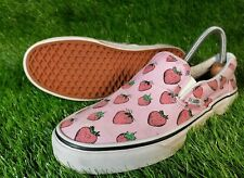 Vans Slip On Shoes Trainers UK Size 6 Strawberry Pattern Womens