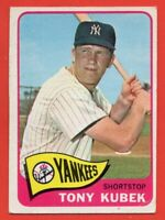 1965 Topps #65 Tony Kubek VG-VGEX+ WRINKLE New York Yankees FREE SHIPPING