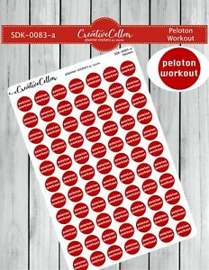 SDK-0083-a Planner Stickers Peloton Workout Stickers fit any Planner