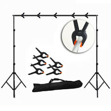 10pcs Photography Photo Backdrop Support Stand Set Background Kit Clip Holder
