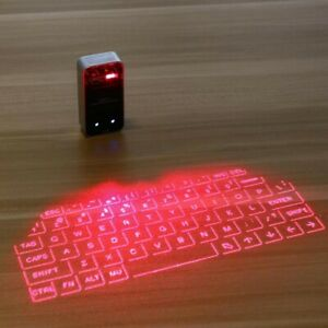 Wireless Bluetooth Laser Projection Virtual Keyboard For PC Tablet Laptop IR