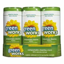 Green Works Compostable Cleaning Wipes, 7 x 7 1/2, Original Scent, - CLO30655