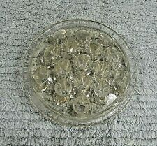 """Vintage 1940's Clear Heavy Glass 4"""" dia Old Round Flower Arranging Frog FREE S/H"""