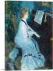 ARTCANVAS Woman at the Piano 1876 Canvas Art Print by Pierre-Auguste Renoir