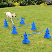 Pawhut Set of 3 Dog Agility Equipment Jumps Kit Indoor Pet Training Sets Course