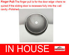 Finger Pull-for edge of cavity sliding door-Square-Polished