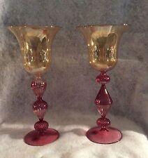 2 PARISE VETRO - Venetian Italian Murano Art Glass Stemwares