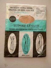 Sears Seamless Mesh Stockings/Nylons-Royal Cinnamon- Size 10 - 1 pair