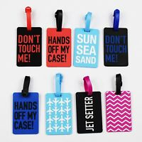 Travel Luggage Tags Tag Labels Suitcase Bag Baggage  Silicone Exclusive Quality