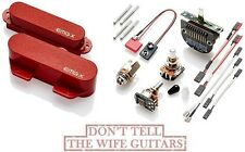 EMG TX RED TELE PICKUP SET FTX & RTX TELECASTER REPLACEMENTS ACTIVE SOLDERLESS
