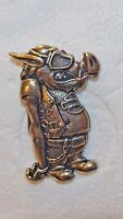 Harley Davidson Motorcycle Brass Plated Biker Hog Pin 2005 FREE SHIPPING IN USA