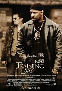 Training Day movie poster (a)  : Denzel Washington, Ethan Hawke : 11 x 17